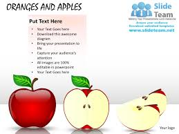 oranges and apples powerpoint presentation slides ppt templates