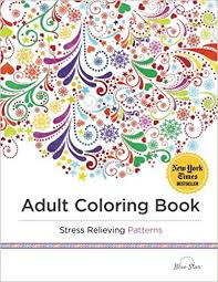 Adult Coloring Book Stress Relieving Patterns Blue Star Coloring Colouring Book