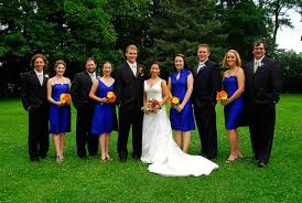 wedding planning plus matching bridesmaids dresses with groomsmen