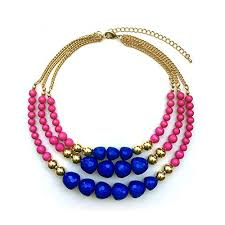 golden jewelry necklace images Trinketsea multi strand beaded statement necklaces for jpg
