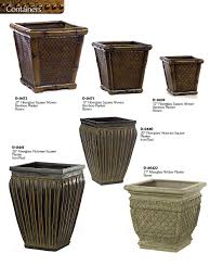 Square Plastic Planters by Decorative Planters And Urns