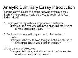 Essay Summary Example Analysis Essay Example