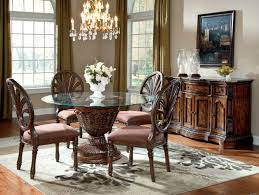 glass round kitchen table incredible ideas round table dining room