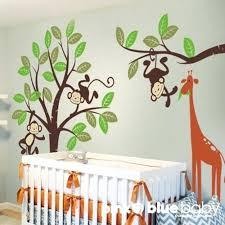 Giraffe Nursery Decor Monkey Wall Decor For Nursery Monkey Wall Decals For Nursery