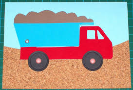 how to make a dump truck card with moving parts for kids craft