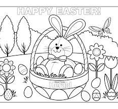 hello kitty happy easter coloring pages colorings with to print