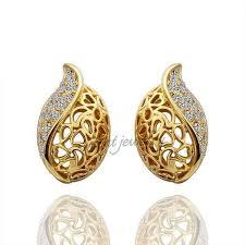 gold earring studs designs gold earrings design for womens