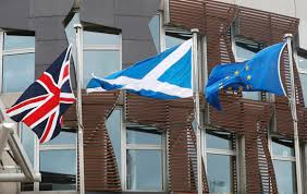 Outside Flag Nicola Sturgeon Demands Another Scotland Independence Vote Before