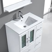 30 Inch Single Sink Bathroom Vanity Avola 30 Inch Modern Single Sink Bathroom Vanity White Finishes