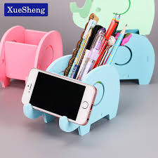 cute desk organizer tray 1pc wooden plastic cute elephant phone rack multifunction mobile