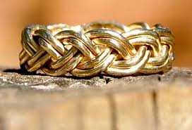 braided wedding bands awesome wedding bands for brides and grooms etsy handmade gold