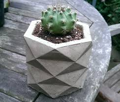 Cactus Planters by Origami Concrete Planters On Behance