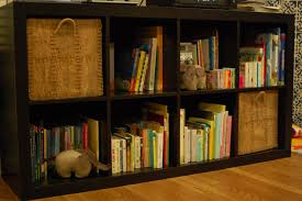 nice orange nuance of the ikea yellow book shelf can be decor with