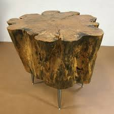 Tree Stump Side Table Tree Stump Side Table Green Clean Designs Kansas City