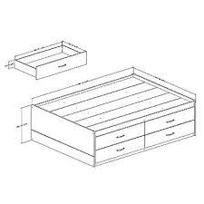 captain u0027s bed full size functional bedroom furniture from kmart