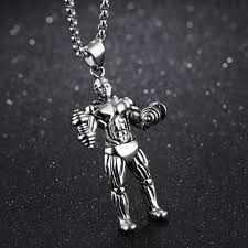 necklace pendants personalized images Top strong man stainless steel necklaces pendants personalized jpg