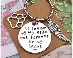 in memory of keychains pet loss etsy