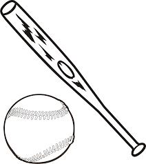 baseball bat outline horizontal recreation sports baseball clipart