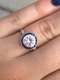 sapphire halo engagement rings calling all sapphire engagement rings in a size 5 ring range