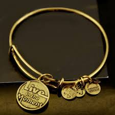 bangle style bracelet images Alex and ani style bracelets initial gold tone live in the moment jpg