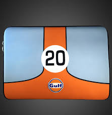porsche martini logo porsche gulf racing laptop sleeve