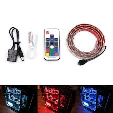 Led Light Strips For Computer Case by Amazon Com Attav Rgb Led Light Strip Full Kit For Computer Pc