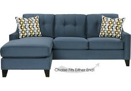 Sleeper Sectional Sofa With Chaise Place Indigo 2 Pc Sleeper Sectional Contemporary Microfiber
