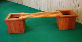 pl box straight planter and bench u2014 the redwood store