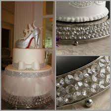 rhinestone cake stand rhinestone cake stand bling wedding cake stand drum 18