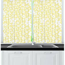 Daisy Kitchen Curtains by Amazon Com Sunflower Gingham Yellow 59