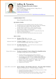 Painter Resume Sample 11 Resume Samples Philippines Resume Emails