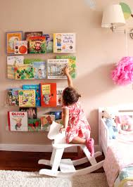 girls u0027 room acrylic bookshelves u0026 a library wall cuter shelves