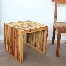 teak wood end table handmade teak wood end table thailand free shipping today