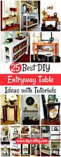 entryway table ideas 25 best diy entryway table ideas with tutorials diy u0026 crafts