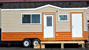 tiny house on wheels portable cabin floor level bed area full