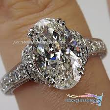 vintage oval engagement rings 3 71ct vintage prong setting oval diamond engagement