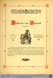 Wappen Baden Becke Klüchtzner Edmund Von Der Stamm Tafeln Des Adels Des