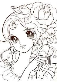 cute manga coloring pages coloringstar