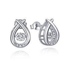 sterling diamond china china fashion jewelry 925 silver stud earrings with diamond