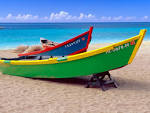 Brightly Painted Fishing Boats, Crash Boat Beach, Puerto Rico ...