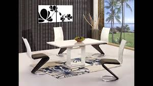 Glass Dining Table For 6 Kitchen Theme And White High Gloss Black Glass Dining