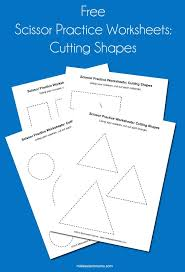 scissor practice worksheets cutting shapes