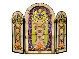 stained glass fireplace screen collect yours