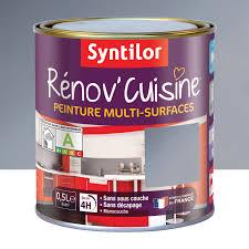 peinture pour meubles cuisine peinture rénov cuisine syntilor gris inox 0 5 l leroy merlin
