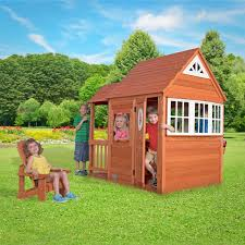 backyard discovery deluxe cedar mansion playhouse 3 10 years