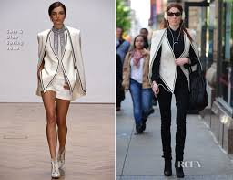 sass bide coco rocha in sass bide out in new york city carpet