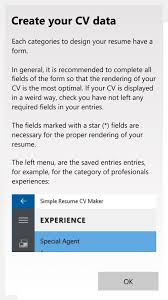 Cv Or Resume Shaperesume Uwp Helps Build A Cv Or Resume