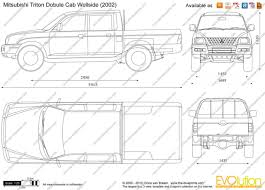The Blueprints Com Vector Drawing Mitsubishi Triton Double Cab