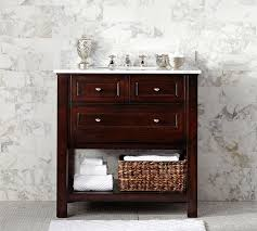 Pottery Barn Bathroom Ideas Classic Single Sink Console Espresso Finish Pottery Barn