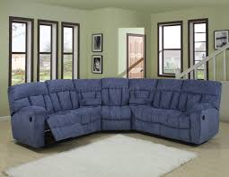 navy blue reclining sofa blue or beige fabric modern 5pc reclining sectional sofa